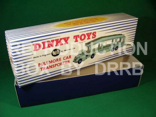 Dinky #982 (582) Pullmore Car Transporter - Reproduction Box